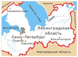 БЭСТ на карте России  Санкт-Петербург и Ленинградская область ... 3a49e635e94